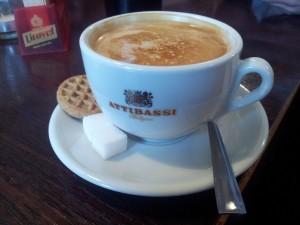 Pszczyna: Bistro Jak Babcię Kocham. Kawa cappuccino