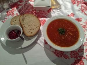 Bytom: Restauracja Pod Czaplą. Zupa węgierska