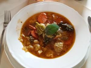Katowice: Restauracja Strefa 11. Zupa minestrone po rzymsku