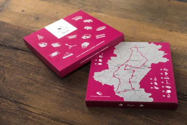 Bombonierki mają w komplecie mapę z ciekawymi miejscami na Śląsku lub w Katowicach