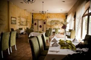 Świerklaniec: Restauracja Lawendowy Ogród. Sala lawendowa