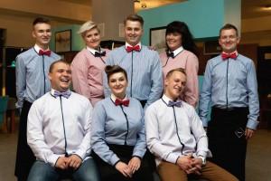 Bielsko-Biała: Restauracja Galeria Blu. Ekipa kelnerek i kelnerów